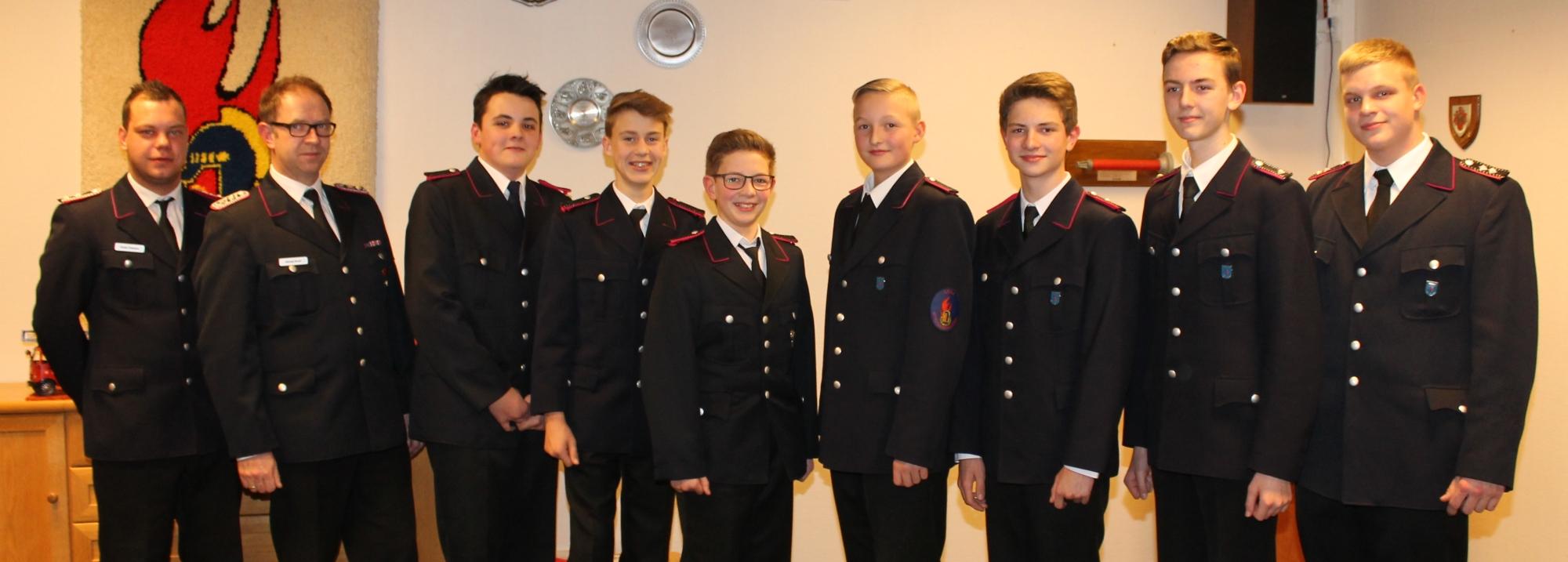 Der neue Vorstand der Jugendfeuerwehr Leck